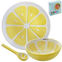 Посуда детская 3пр/наб (тарелка 20см, супница 12.5см, ложка 12см) R85692 (24наб)