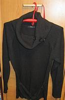 Свитер женский 16 50 L ворот- хомут пуловер кофта как новая черная GEORGE