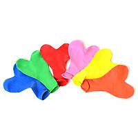 Шарики надувные MET10058  сердце, 100шт(микс цветов) в кульке, 18-21-2см