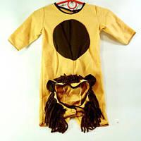 """Костюм детский карнавальный """"Лев"""" комбинезон + шапка, набор из 2-х позиций, костюм для маленьких 1-1,5 года"""