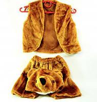 """Костюм детский карнавальный """"Медведь"""" желетка + шорты + шапка, набор из 3-х позиций, костюм мишки"""