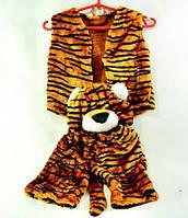 "Костюм детский карнавальный ""Тигр"" шорты, жилетка + шапка, набор из 3-х позиций, костюм тигр"