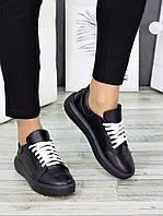 Кеды кожаные черные 7253-28, фото 1