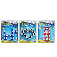 Игра 606 (288шт) головоломка, змейка, 3 вида(микс цветов), на листе, 10,5-14,5-2см