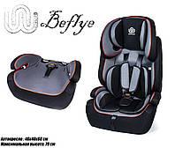 Детское автокресло BeFlye универсальное черное, группа 1/2/3, вес ребенка 9-36 кг