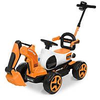 Трактор M 4192-7 (1шт) 1мотор25W, 1аккум6V7AH,родит.ручка,подвижн.ковш, оранжевый