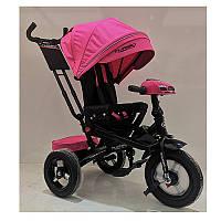 Велосипед M 4060HA-6 три кол.резина (12/10),колясочн,поворот,USB/BT,свет,торм,пульт,розовый