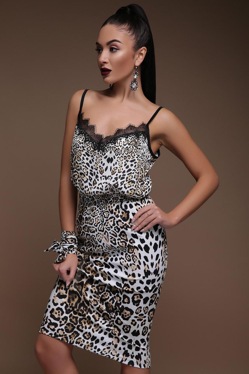 Облегающая юбка с леопардовым принтом