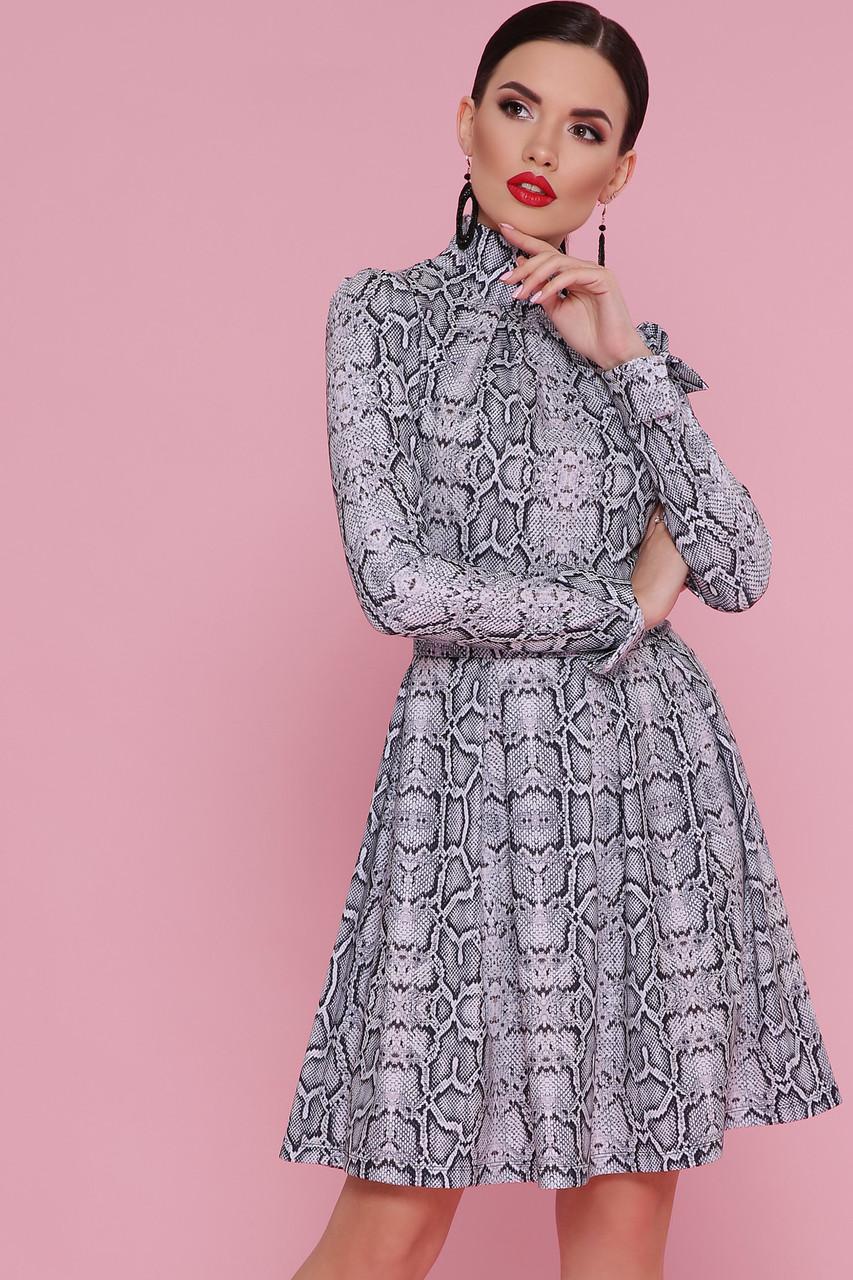 Платье с принтом питона Эльнара