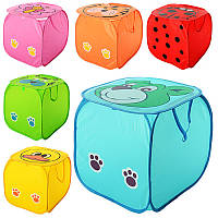 Корзина для игрушек M 2508 (50шт) животное,высота45см,крышка-липучка,ручки,6вид,в кульке,45-45см