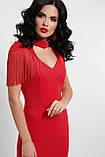 Вечернее платье в пол красное Альфия, фото 2