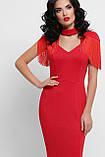 Вечернее платье в пол красное Альфия, фото 3