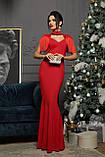 Вечернее платье в пол красное Альфия, фото 5
