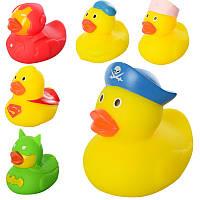 Пищалка 32820-1  для купания, утка, брызгалка, 6видов, в кульке, 7,5-7-5,5см