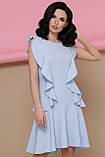Платье с воланами голубое Шейла, фото 2
