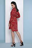 Платье рубашка бордовое с принтом Аврора П, фото 5