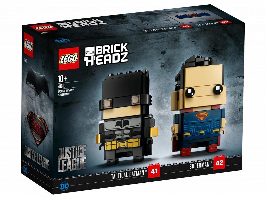 Lego BrickHeadz Тактический Бэтмен и Супермен 41610