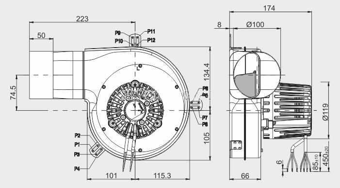 Вытяжной вентилятор MplusM G2E 180-GV82-01, фото 2