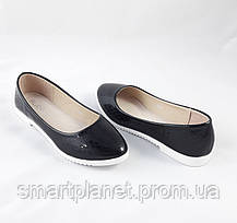 Женские Балетки Чёрные Мокасины Туфли (размеры: 39), фото 2