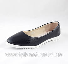 Женские Балетки Чёрные Мокасины Туфли (размеры: 39), фото 3