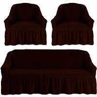 Комплект чехлов для мебели черный шоколад 38 Love you