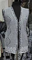 Женская жилетка на завязке