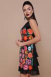 Платье черное с цветочным принтом Эдита, фото 3