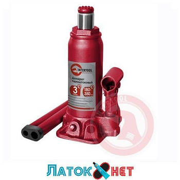 Домкрат бутылочный 3т GT0022 Intertool одноштоковый