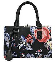 Женская сумка 5413 черная с цветами