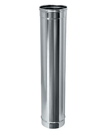 Труба дымоходная 1 м нерж. ø140 мм (толщина 0,8 мм)