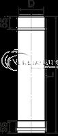 Труба дымоходная 1 м нерж. ø150 мм (толщина 0,6 мм), фото 2