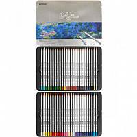 Карандаши 50 цветов шестигранные в метал. пенале, Raffine, Marco