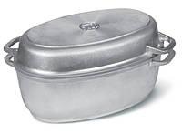 Гусятница с утолщенным дном и крышкой сковородой 2.5л