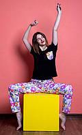 Женский домашний костюм, размер XS, Мишки Гамми, женская пижама (футболка и брюки)