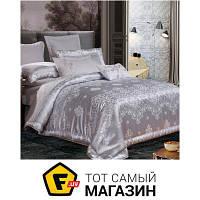 Комплект постельного белья евро 205x225 см хлопок, полиэстер светло-серый Руно 845.137АЖ 50x70см, евро (SJ-023А+В)