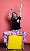 Женский домашний костюм, размер XL, Мишки Гамми, женская пижама (футболка и брюки)