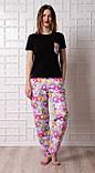 Женский домашний костюм, размер 3XL, Мишки Гамми, женская пижама (футболка и брюки), фото 2
