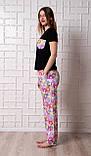 Женский домашний костюм, размер 3XL, Мишки Гамми, женская пижама (футболка и брюки), фото 3