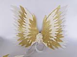 Крылья ангела Белые золотые Крылья айвори Украшение молочные крылья ангела, фото 10