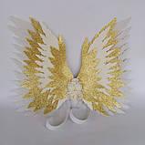 Крылья ангела Белые золотые Крылья айвори Украшение молочные крылья ангела, фото 8