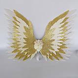 Крылья ангела Белые золотые Крылья айвори Украшение молочные крылья ангела, фото 7