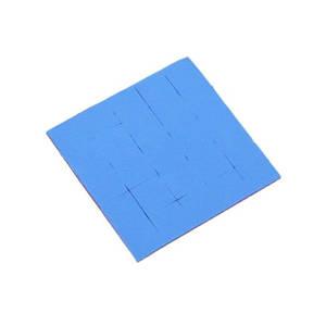 Термопрокладка, 3.8 Вт/мК, товщина 1 мм, розмір 5х5 см, Blue, з поділками 1x1 см