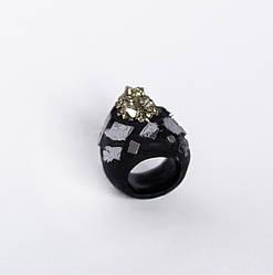 Женское кольцо PLAXA с пиритом 18.5 размер (PL1002)