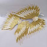 Крылья ангела Белые золотые Крылья айвори Украшение молочные крылья ангела, фото 2