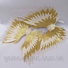 Крылья ангела  золотые  крила айвори Украшение молочные крила янгола