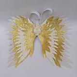 Крылья ангела Белые золотые Крылья айвори Украшение молочные крылья ангела, фото 3
