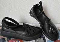Elle шик! удобные кожаные женские осенние туфли на средней платформе, фото 1