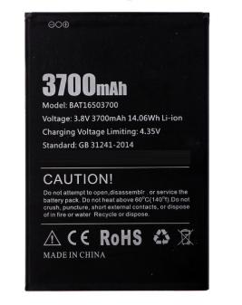 Акумулятор (Батарея) для Doogee X7 BAT16503700 (3700 mAh)