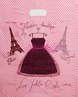 Пакет полиэтиленовый Банан Платье 30 х40 см / уп-100шт