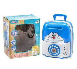 Детская игрушка копилка для денег.Интерактивная игрушка сейф для денег с звуковыми и световыми эффектами.